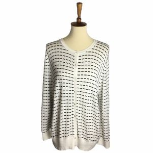 Cable & Gauge Button Front Cardigan Sweater XXL
